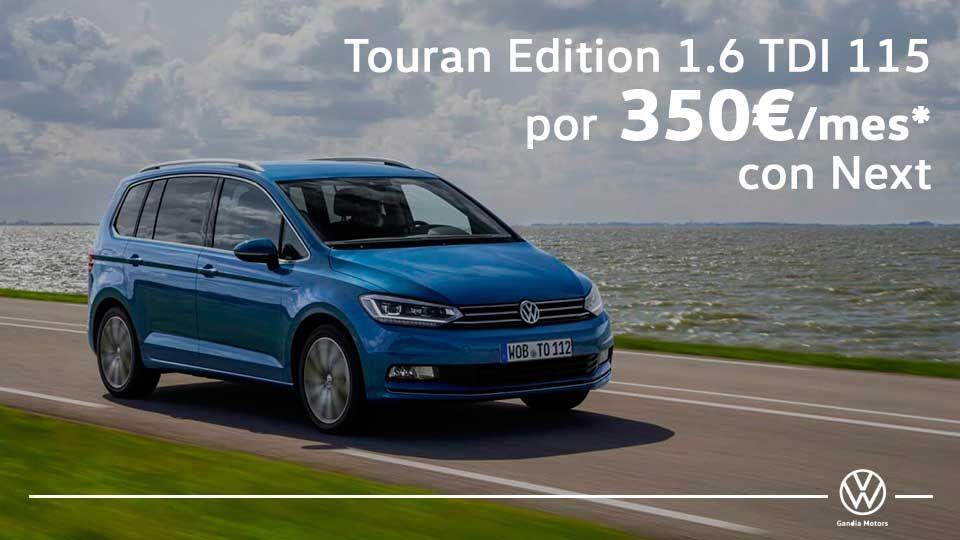Touran, tu familiar con 7 plazas por 350€/mes