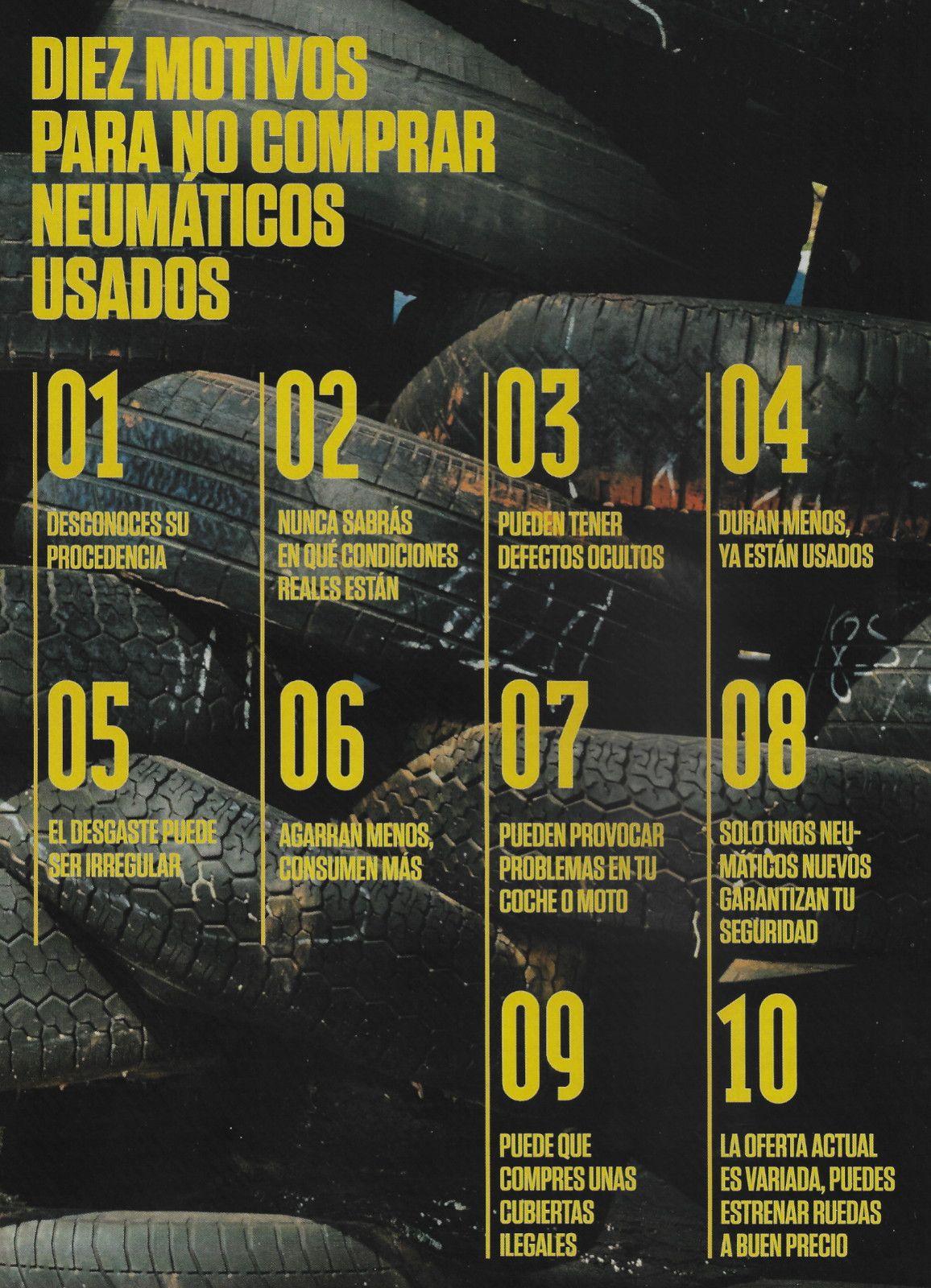 10 MOTIVOS PARA NO COMPRAR NEUMÁTICOS USADOS