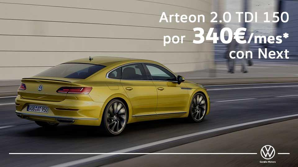 Nuevo Arteon: El más seguro y elegante de su categoría por 340€/mes
