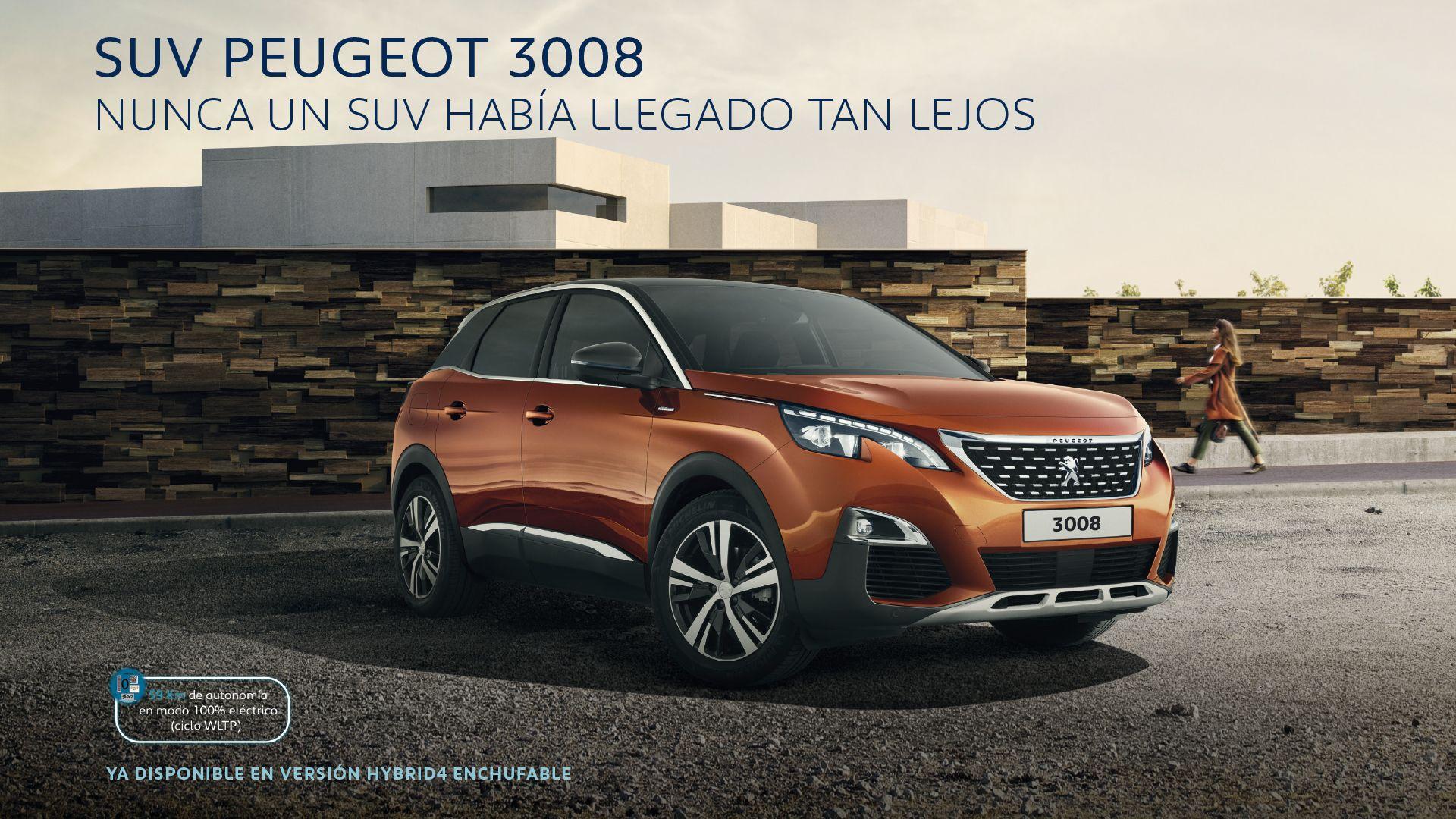 Llévate un SUV Peugeot 3008 por sólo 200€/mes y con un año de SEGURO GRATIS