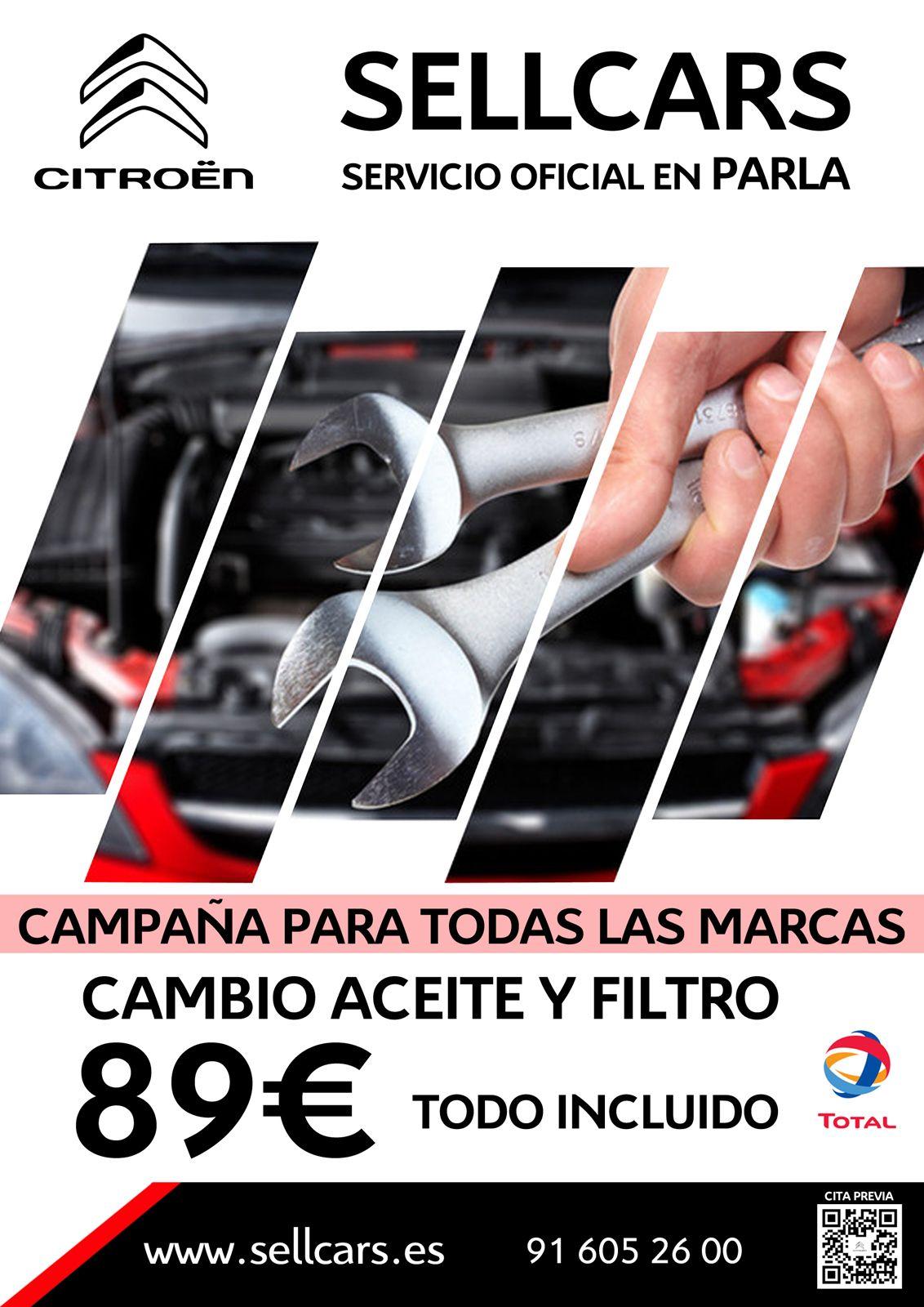Cambio Aceite y Filtro 89€