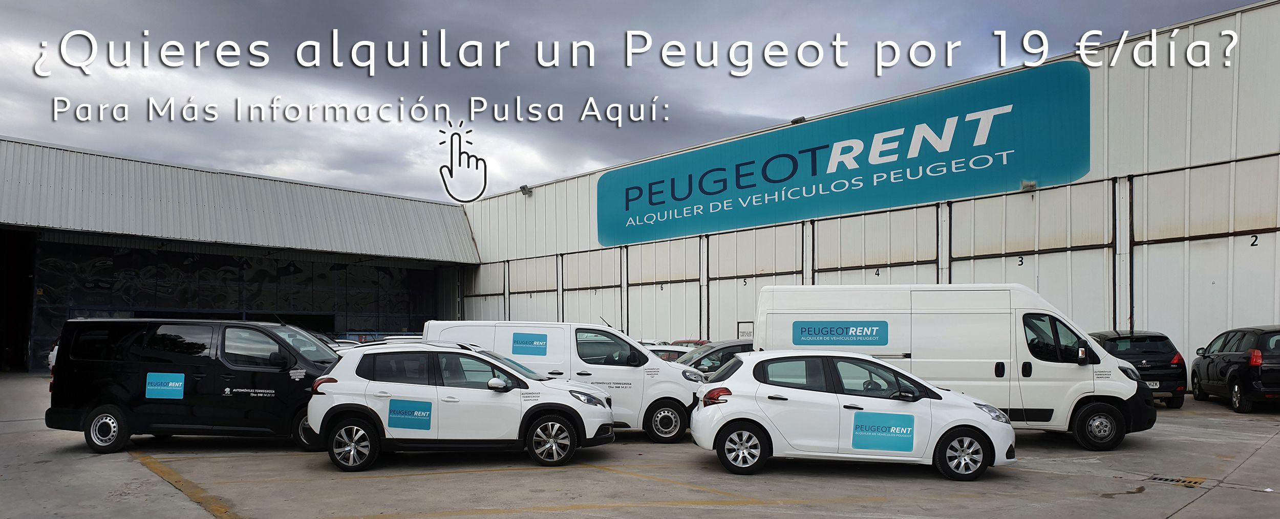 ¿Quieres alquilar un Peugeot por 19 €/día?