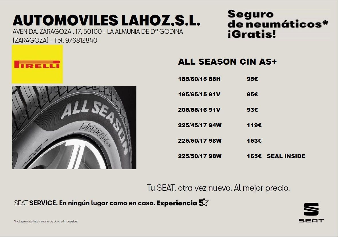 Neumaticos cuatro estaciones. .ALL SEASON CIN AS+