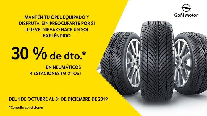 30% descuento en neumáticos 4 estaciones (mixtos)