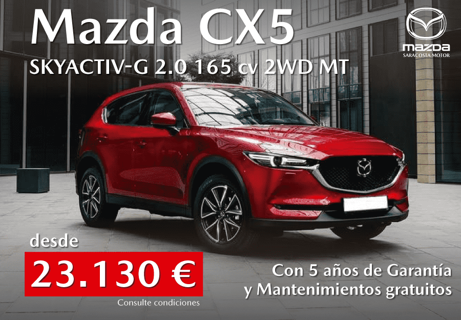 Mazda CX5 Skyactiv-G 2.0 165 cv desde 23.130 euros