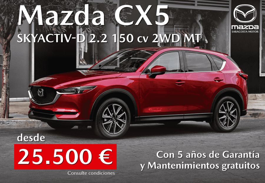 Mazda CX5 Skyactiv-D 2.2 150 cv desde 25.500 euros