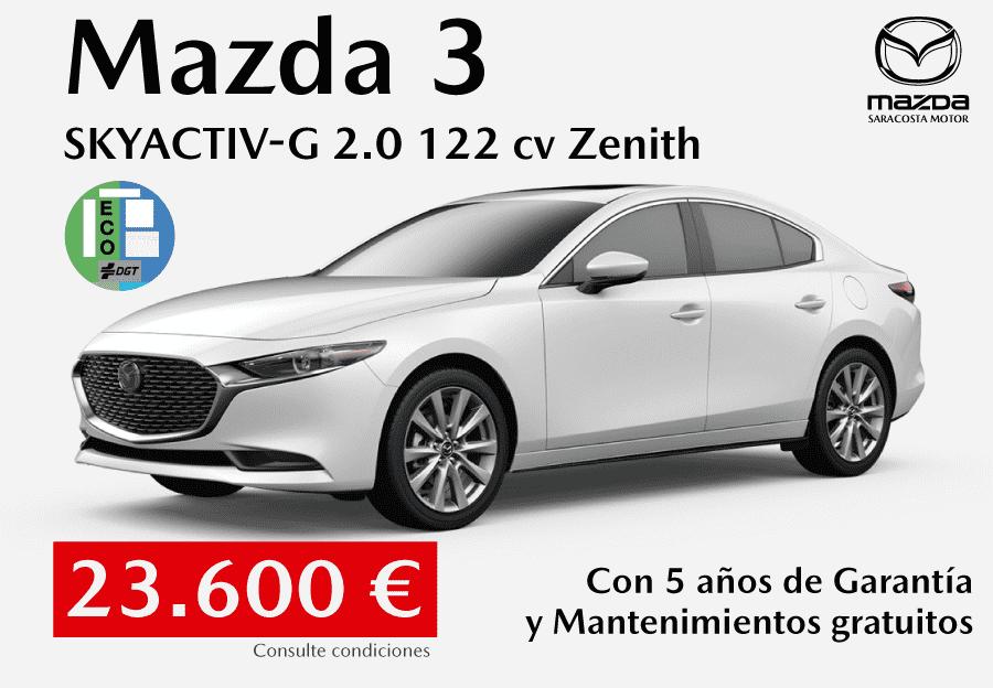 Nuevo Mazda3 sedán por 23.600 €