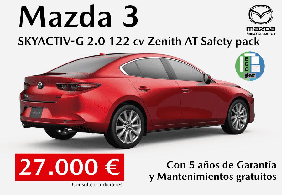 Nuevo Mazda3 sedán por 27.000 €