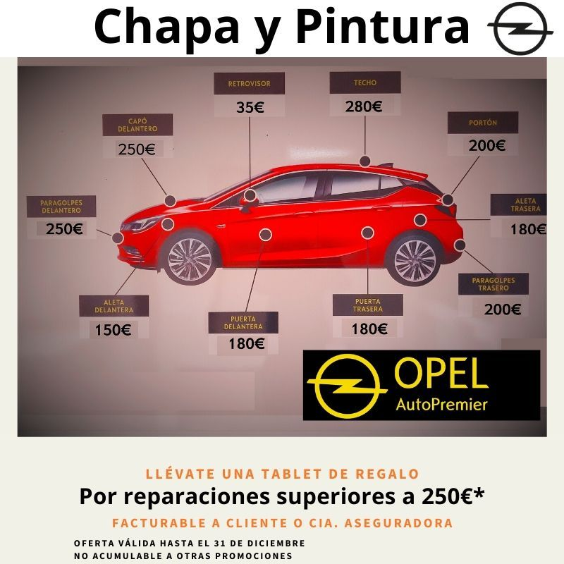 Tu Opel impecable y de regalo una Tablet