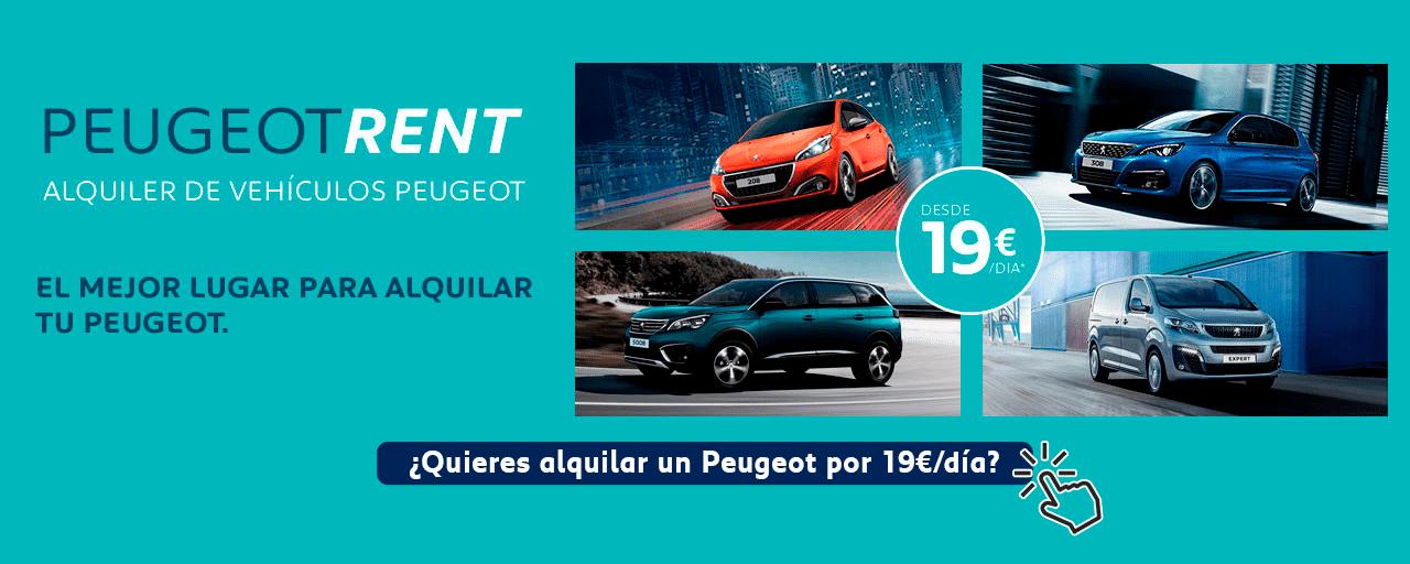 Peugeot Rent: Alquiler de vehículos Peugeot por 19€/día*