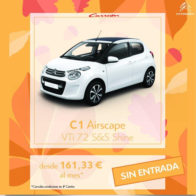 Citroën C1 Airscape desde 161,3 €/mes* SIN ENTRADA