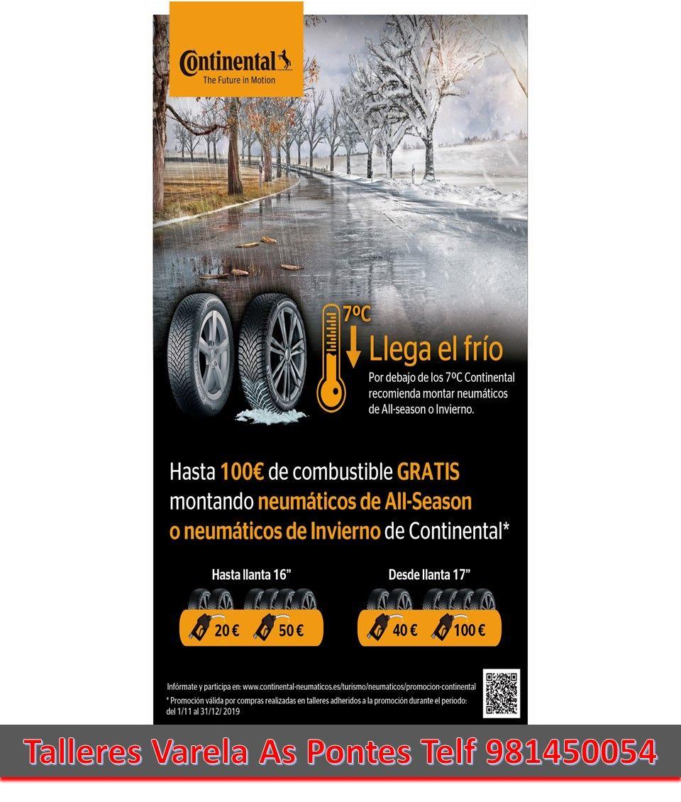 Campaña Neumáticos Continental Noviembre y Diciembre 2019