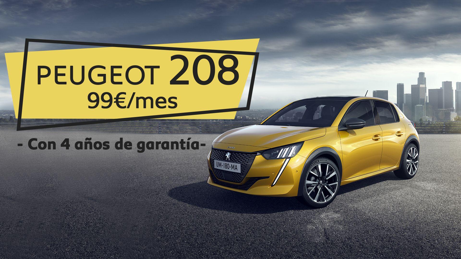 ¡Oferta de lanzamiento! Nuevo Peugeot 208 por 99€/mes
