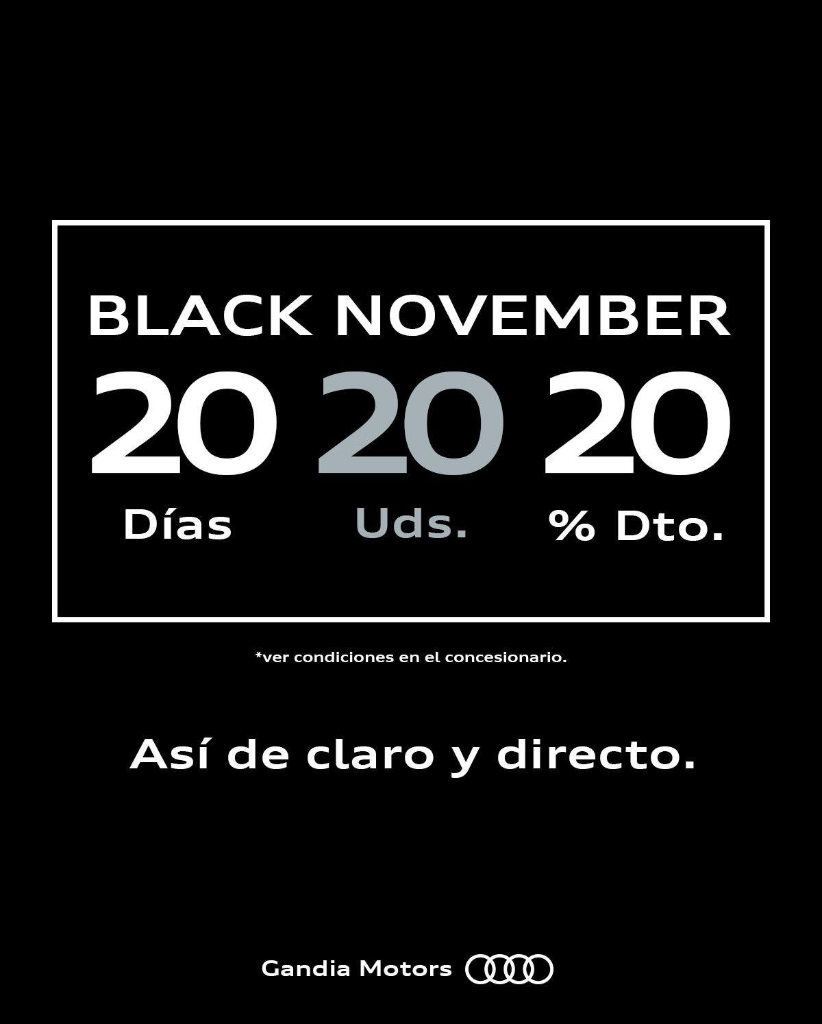 Black November en Audi Gandia Motors