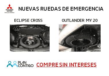 NUEVAS RUEDAS DE EMERGENCIA: ECLISPE CROSS Y OUTLANDER MY20