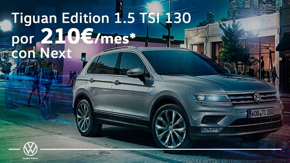 Volkswagen Tiguan, disfruta del camino por 210€ al mes
