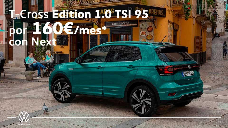 Nuevo T-Cross, tu SUV urbano por 160€/mes