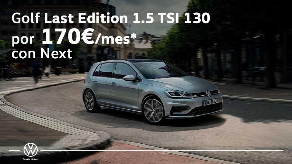 Volkswagen Golf por solo 170€ al mes