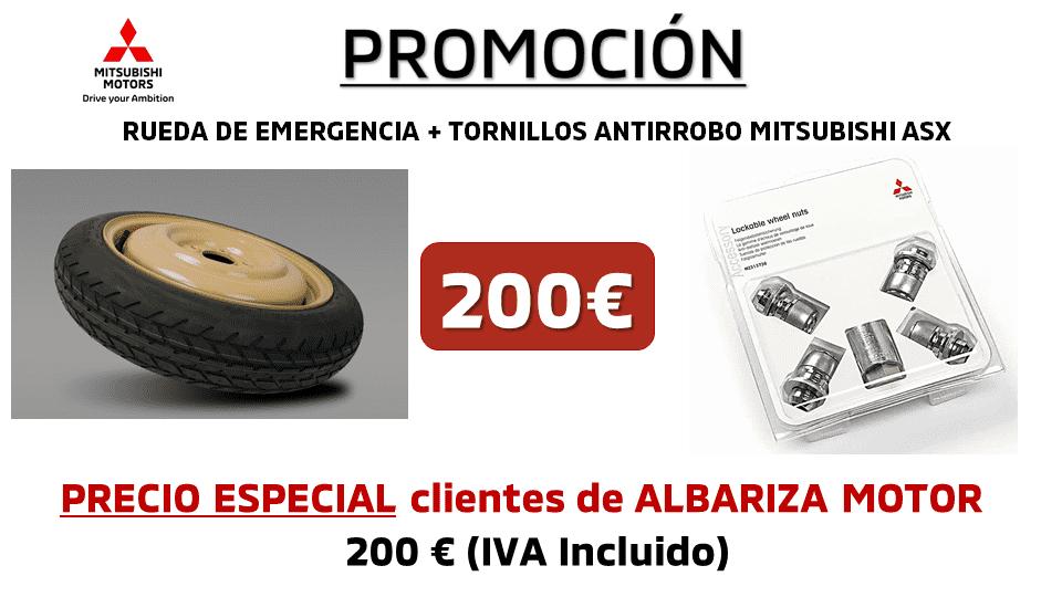 RUEDA DE EMERGENCIA + TUERCAS ANTIRROBO ASX