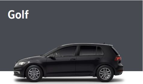 Volkswagen Golf por 190€/mes con My Renting