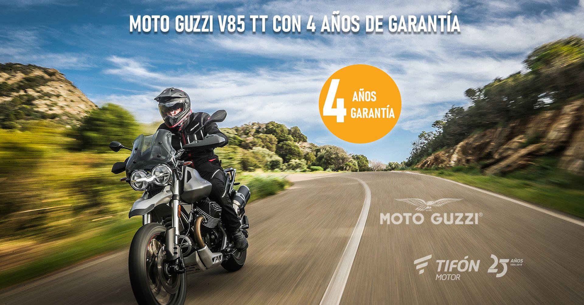 4 años de garantía en la Moto Guzzi V85 TT