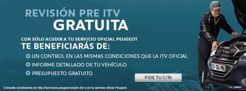 Revisión Pre ITV Peugeot Gratuita.