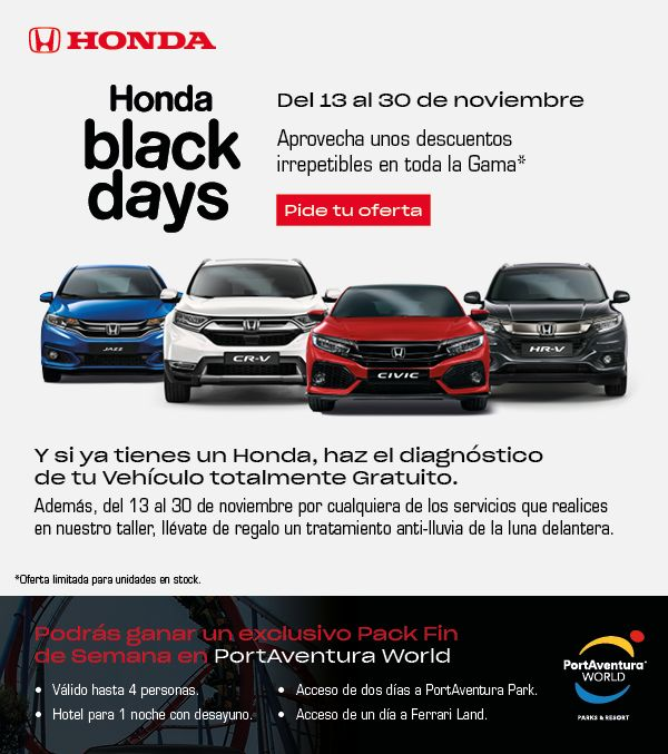 HONDA BLACK DAYS