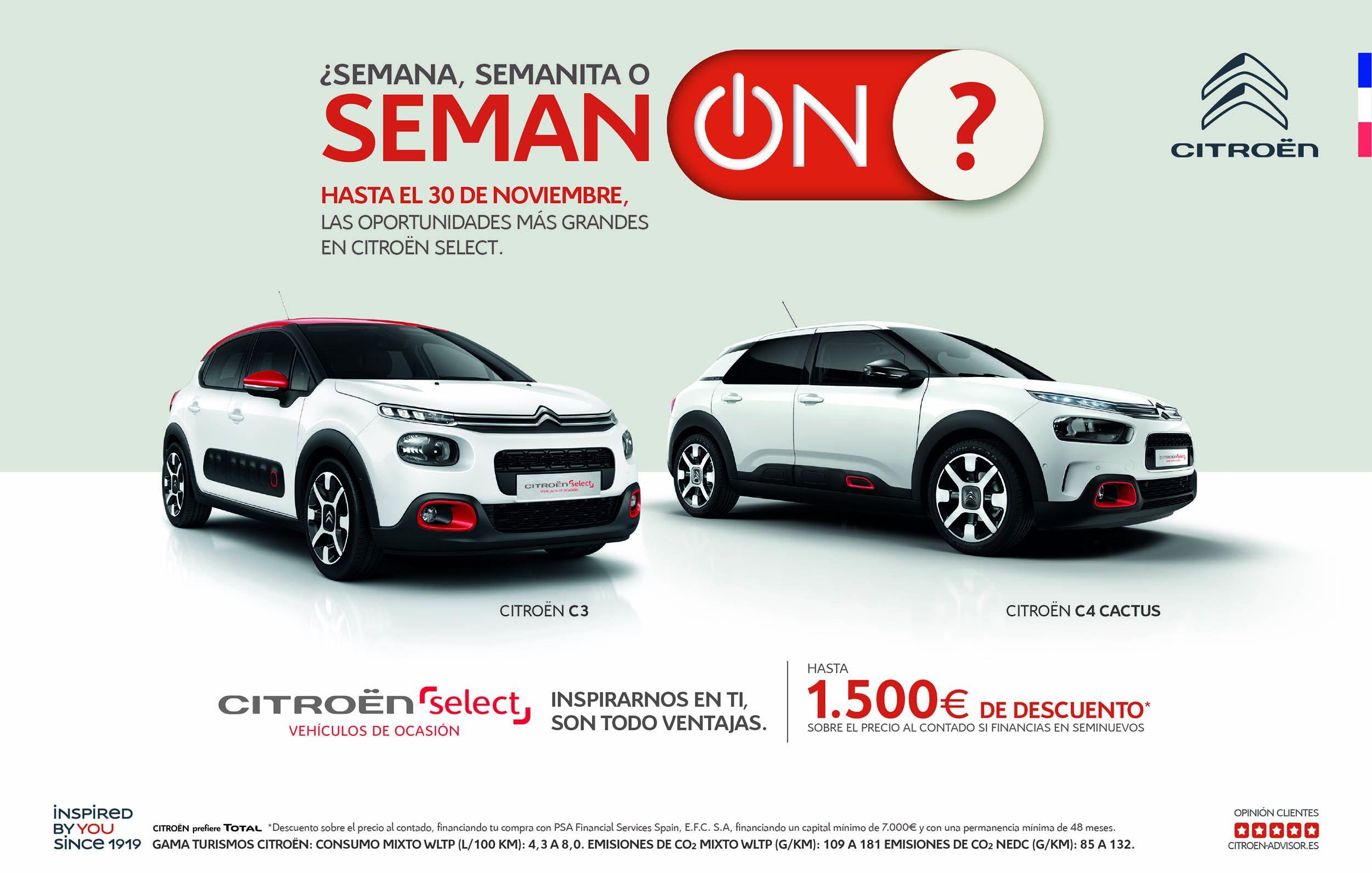 ¿Semana, Semanita o Seman-ON? Las oportunidades más grandes en Citroën Select