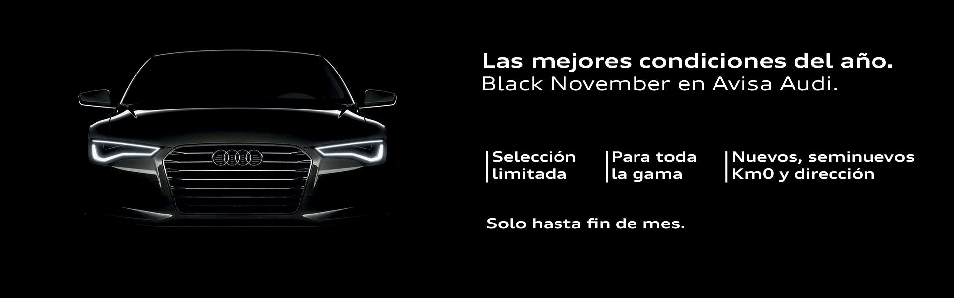 Black November en Avisa Audi