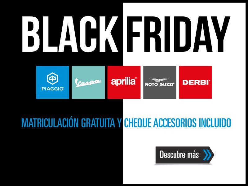 Black Friday en la gama Piaggio: matriculación gratis y 200 € en accesorios