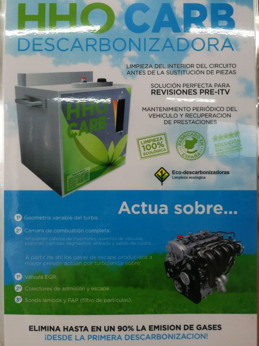 DESCARBONIZADORA HHO CARB