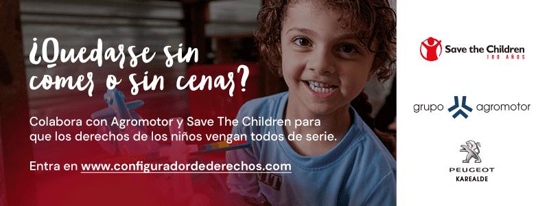 """Grupo Agromotor y Save The Children presentan el """"Configurador de derechos de la infancia"""", una campaña para para garantizar que todos los niños tengan sus derechos de serie."""