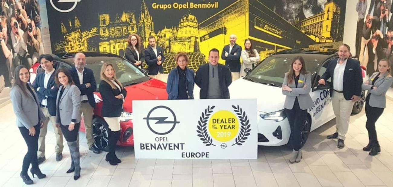 Opel Benavent - Benmóvil, concesionario del año en Europa.