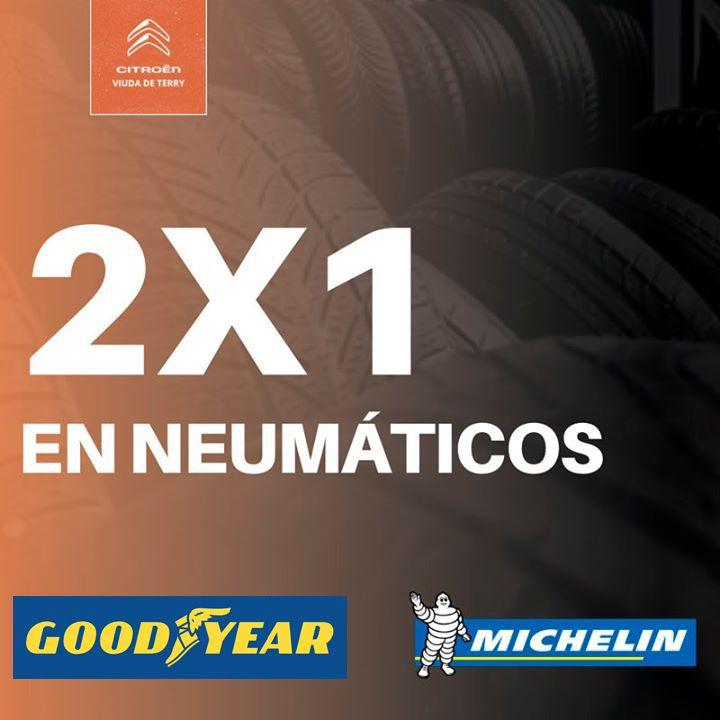 Llévate un 2x1 en neumáticos Michelin y Good Year