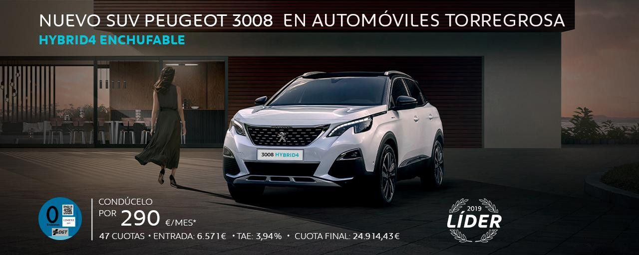 NUEVO SUV PEUGEOT 3008 HÍBRIDO ENCHUFABLE