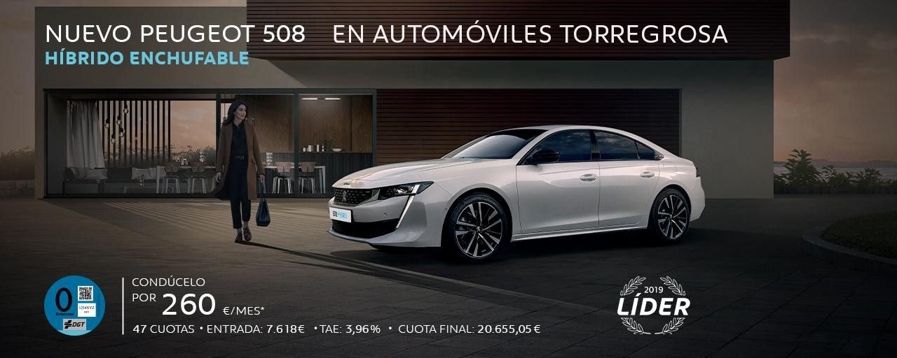 NUEVO SUV PEUGEOT 508 HÍBRIDO ENCHUFABLE