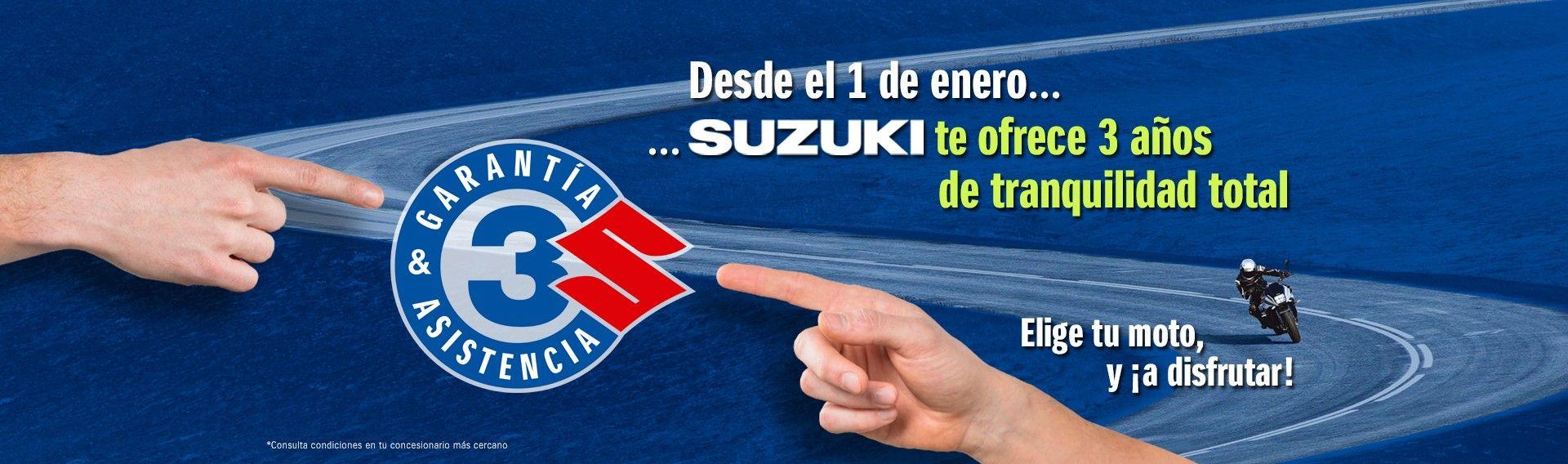 Suzuki te ofrece 3 años de tranquilidad total