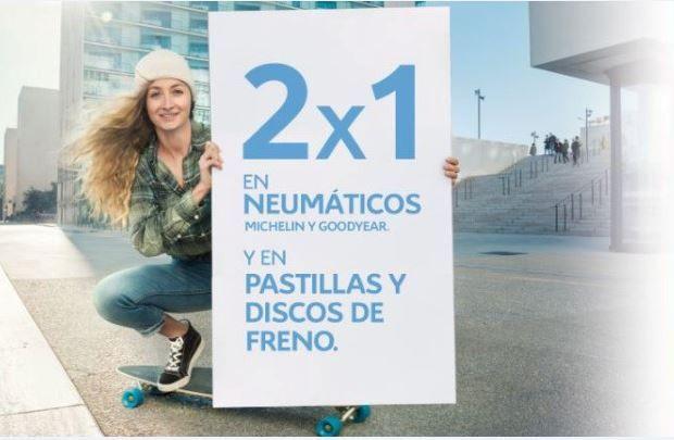 2X1 EN NEUMÁTICOS, PASTILLAS Y DISCOS DE FRENO