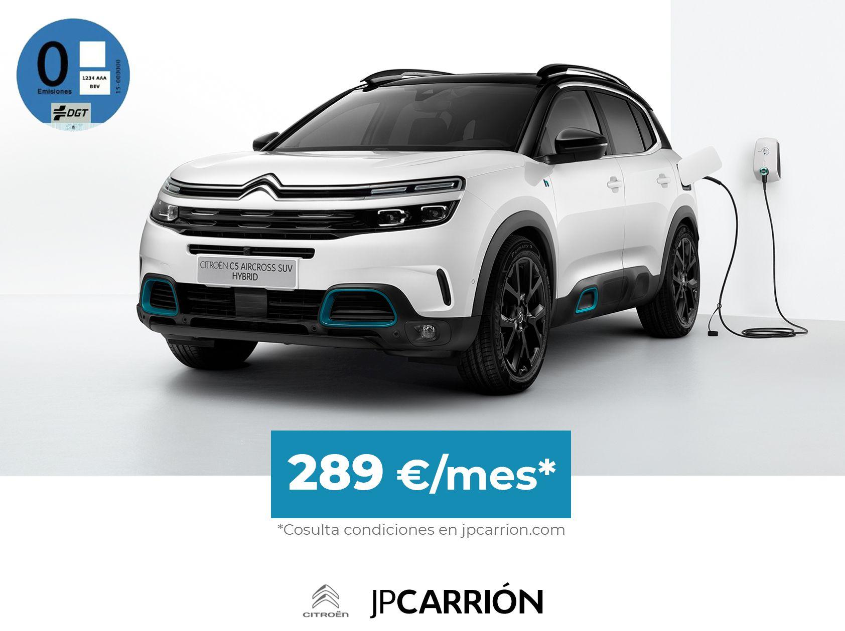 Citroën C5 Aircross Hybrid por 289€/mes*