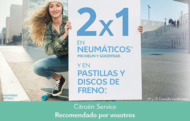 PROMOCIÓN NEUMÁTICOS (2X1 EN MARCAS Michelin y Goodyear y en PASTILLAS Y DISCOS DE FRENO
