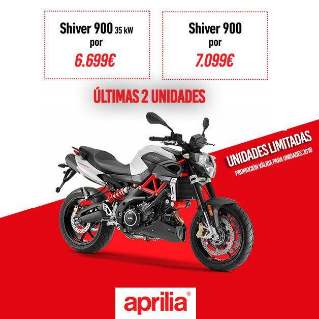Últimas dos unidades Aprilia Shiver 900 a un precio que no te vas a creer