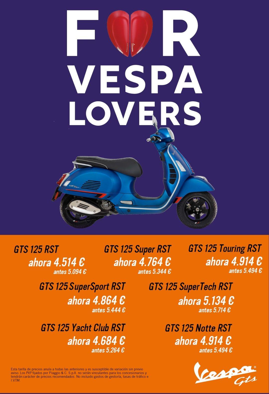 PROMOCION 2020 VESPA GTS RST