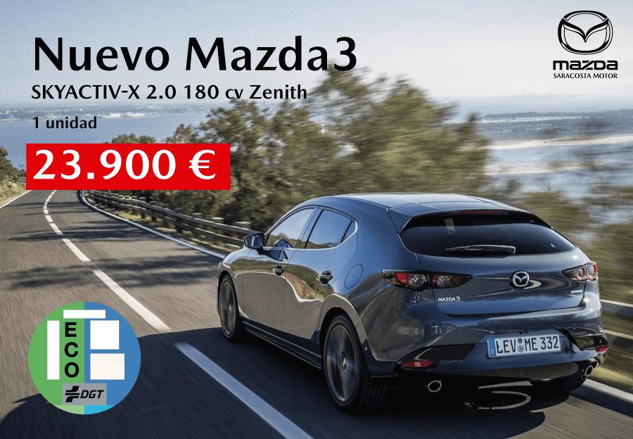 Nuevo Mazda3 por 23.900€