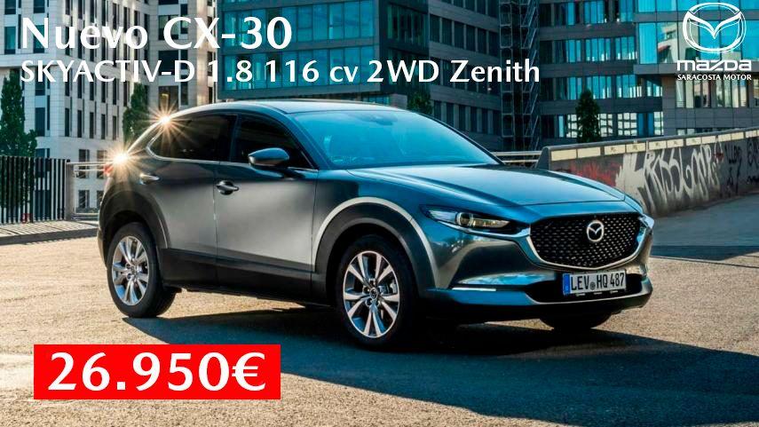 Nuevo Mazda CX-30 por 26.950€