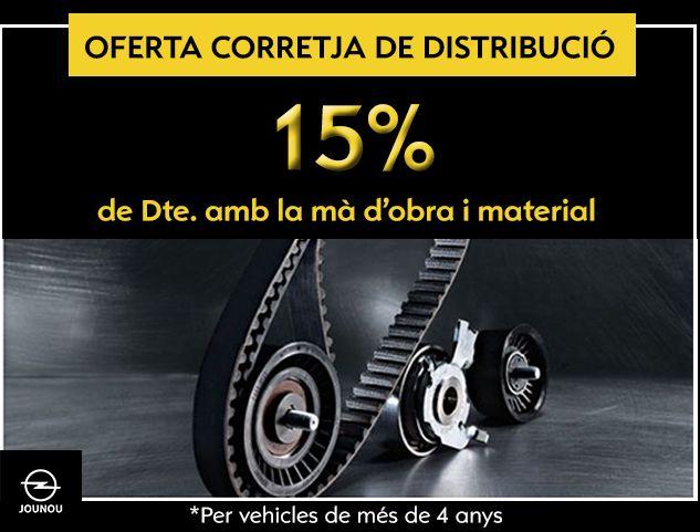 OPEL: 15% DESCOMPTE EN DISTRIBUCIONS