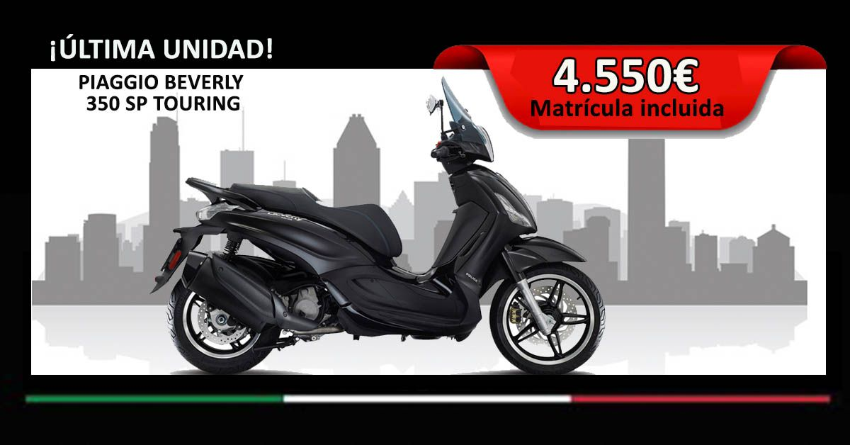 PIAGGIO BEVERLY 350 SP TOURING NEGRA