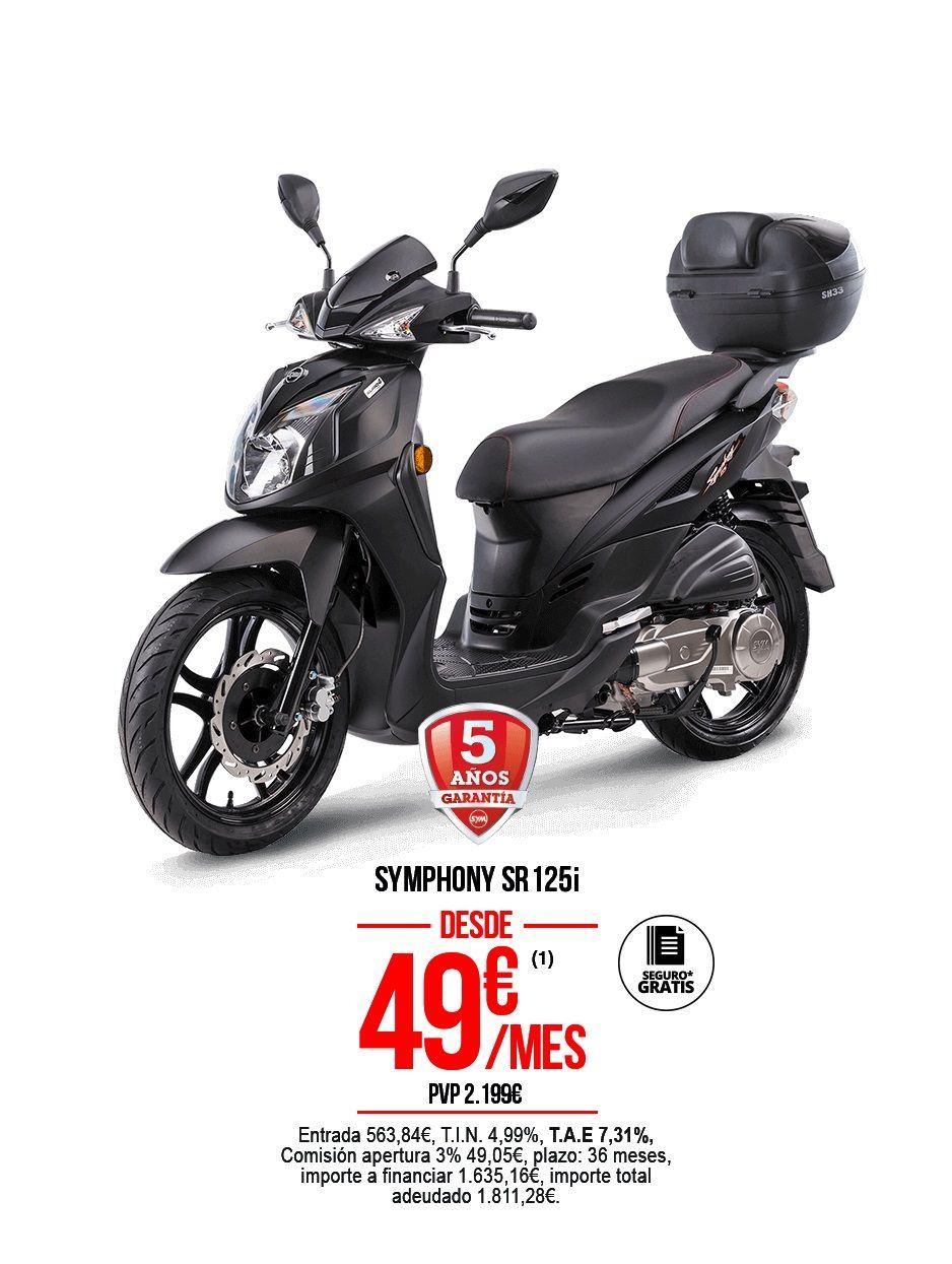 SYMPHONY 125 SR TOP POR SOLO 49€ AL MES