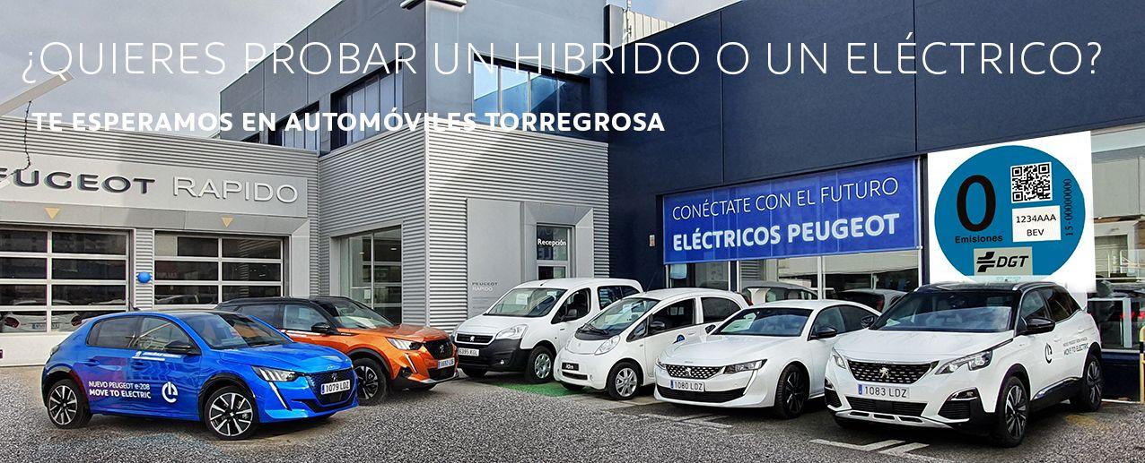 Descubre en Autmóviles Torregrosa los vehículos Eléctricos he  híbridos enchufables de PEUGEOT