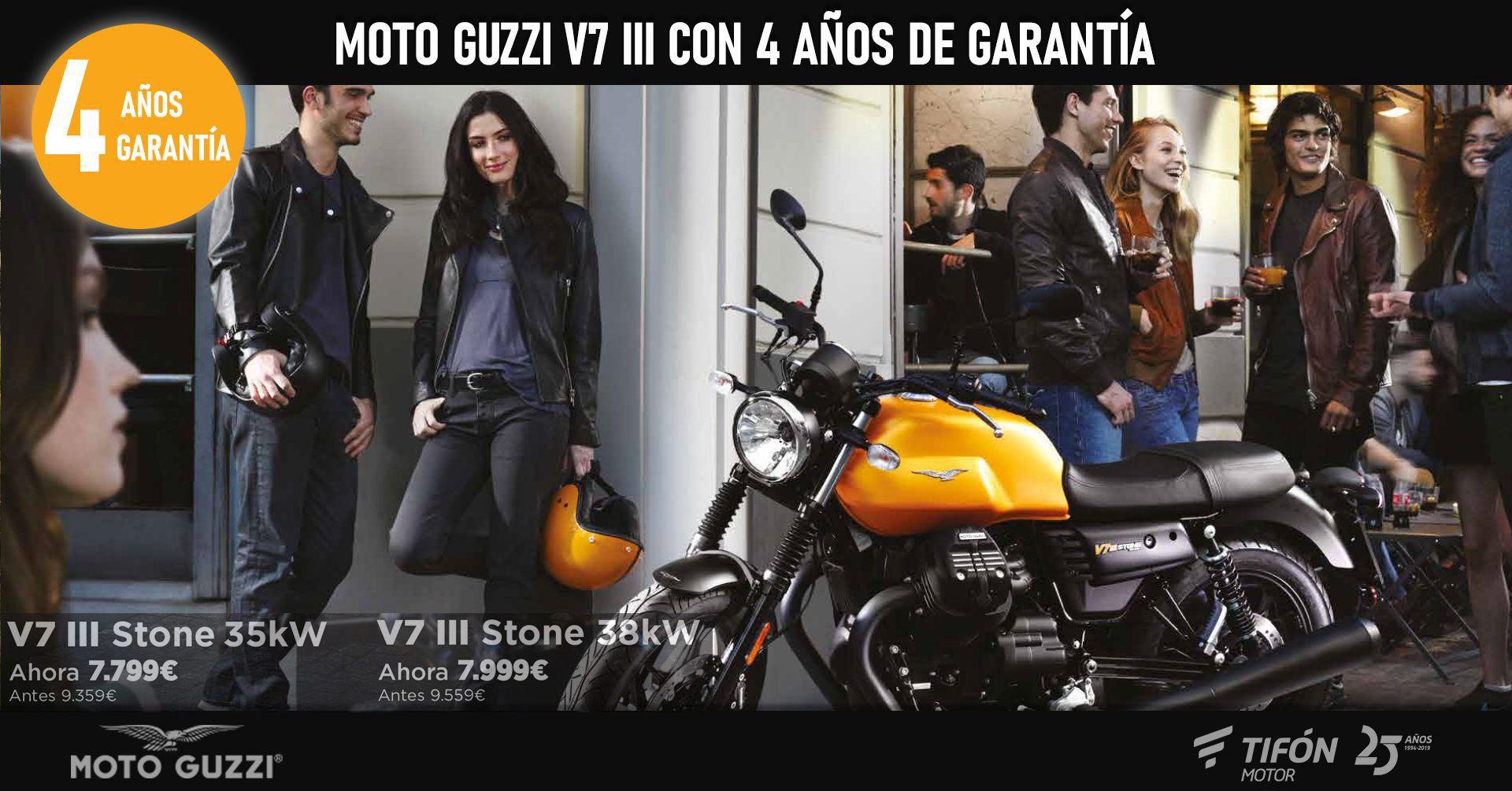 Ahora la Moto Guzzi V7 III Stone desde 7.799€ y con 4 años de garantía