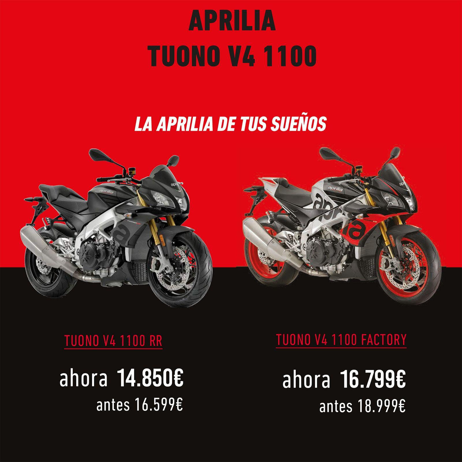 Ahora tienes una Aprilia Tuono V4 1100 desde 14.850€